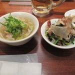 すいば - 豚バラと白菜の炊いたんと、青菜としめじの柚子コショー風味