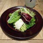 ロイヤルガーデンカフェ - セットのミニサラダ