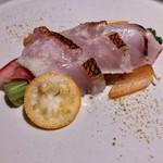 100117110 - 前菜:金目鯛のサラダ仕立て