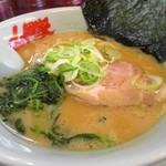 山岡家 - 醤油ラーメン(サービス券10枚使用)