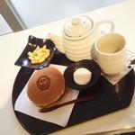 カフェ・ド・ジヴェルニー - ムンクのどら焼きセット・全景