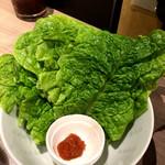 ヤキニク銀河 - チシャ菜
