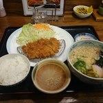 大正亭 - 料理写真:「うどんとんかつセット」1000円