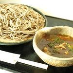 名古屋 やぶ - カレー南蛮せいろ 850円  (やぶ 特製つけ麺)