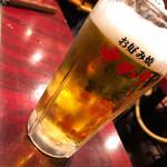お好み焼 ゆかり - 生ビール