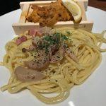 タベルナ トーキョー - 「炙り板うにのスパゲッティ(塩)L」1,090円