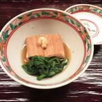 100134543 - 蒸し穴子 海老芋 京菊菜