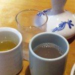 加辺屋 - そば湯にお茶にお冷(^^ゞ