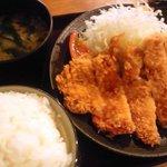Kushikatsudengana - 特製豚カツ定食全景