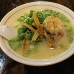 麺屋社中 - 濃厚鶏そば(750円、斜め上から)