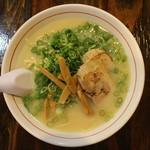 麺屋社中 - 濃厚鶏そば(750円、真上から)