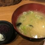 幸丼 - 味噌汁、スープ割付