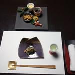 鄙の宿 金宇館 - 料理写真:食前酒、先付、八寸