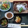 彩里 - 料理写真:ステーキ重セット 1,500円