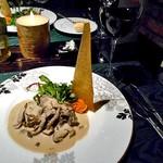 ラビスタ大雪山 - 夕食(十勝ラビスタ牛肉のフリカッセ きのこたっぷりクリームソース)