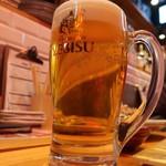 東京鉄板酒場 肉徹 - 生ビール