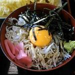 あさひ - しらす小丼(玉子)