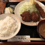 よし野 - 料理写真:ヒレカツと海老フライの定食1404円税込