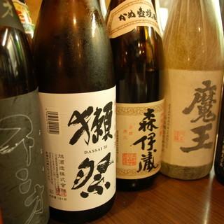 日本酒は甘口から辛口まで季節に合せ豊富な品揃え。ほぼ430円