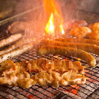 新鮮食材をろばた焼きで!
