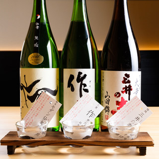 40種類以上の日本酒をお好みの飲み方でご提供いたします
