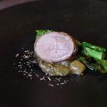 Ristorante Carlotta - 【Carne】瀬戸もみじ豚のインボルティーニ、江田島産牡蠣のラグー