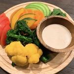 100162354 - 季節野菜のバーニャカウダ アップ