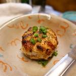 かんちゃん - デカイマシュルームのつくね詰焼チーズIN