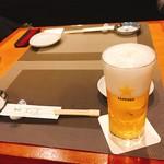 北の旬菜 茶茶 - 生ビール