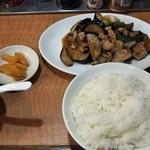 中華みかく亭 - ナスとピーマン定食
