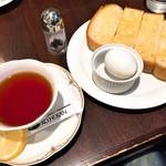 珈琲館 - 料理写真:レモンティー+トースト&ゆで卵