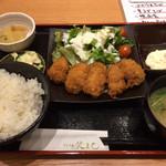 蕎麦酒家 笑よし - カキフライ定食