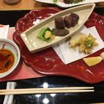 京懐石 美濃吉 - 黒毛和牛 西京焼きと春の野菜天ぷら
