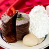 エッグスンシングス - 料理写真:★期間限定★フォンダンショコラパンケーキ