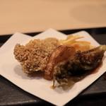 味あら井 - 牡蠣、くわい、ふきのとう、揚げ物