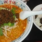 阿里城 - アッサリめの担々麺と高菜ひき肉ご飯  950円ナリ
