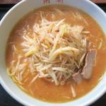 角新食堂 - 料理写真:ねぎもやしらーめん(味噌味)