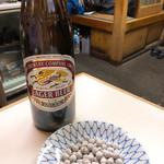 今むら - ビールのあては塩豆