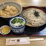 Ichifuku - ミニ親子丼、ざる蕎麦セット:¥860