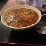 上海厨房 家楽 - サンラータンメン700円