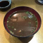 100193228 - お得ランチ、寿司定食、共通の赤出汁!