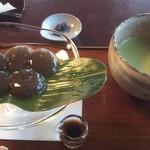 100195710 - わらび餅1300円と抹茶600円