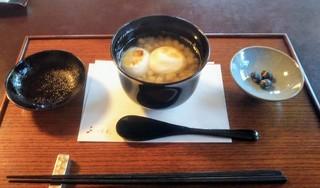 茶寮 宝泉 - 白小豆ぜんざい1150円