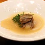 神楽坂 鉄板焼 中むら - テールスープ ヨシキリザメのフカヒレと共に