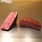 神楽坂 鉄板焼 中むら - 川岸牧場産 神戸牛シャトーブリアンのステーキ