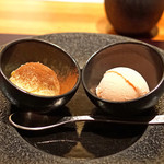 神楽坂 鉄板焼 中むら - 中むら特製 苺のアイスクリームとマスカルポーネチーズのアイスクリーム