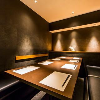 和モダンな個室空間は宴会や食事利用に最適!