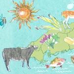 春はホワイトアスパラ。夏はメロン、岩牡蠣。秋はじろうさんのジビエ。冬は島田さんの牡蠣など。