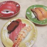 海転寿司 丸忠 - 料理写真:オーダーの3皿