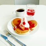 IKEAレストラン - クリームタワーパンケーキ。